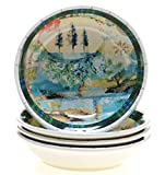 Tracy Porter for Poetic Wanderlust Folklore Holiday Set/4 Soup/Pasta Bowl 9.5'' x 2''