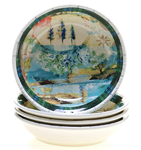 Tracy Porter for Poetic Wanderlust Folklore Holiday Set/4 Soup/Pasta Bowl 9.5