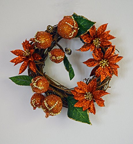 Mini Christmas Wreath, Grapevine Wreath, Door Wreath, Holiday Wreath, Candied Fruit, Ready to Ship!