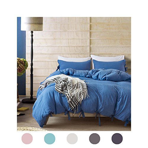 Moreover 3 Pieces Blue Bedding Dodger Blue Duvet Cover Set Bow Tie Design Royal Blue Bedding Set King One Bowknot Duvet Cover Two Bowtie Pillowcases (King, Dodger - Clearance Co Tiffany And