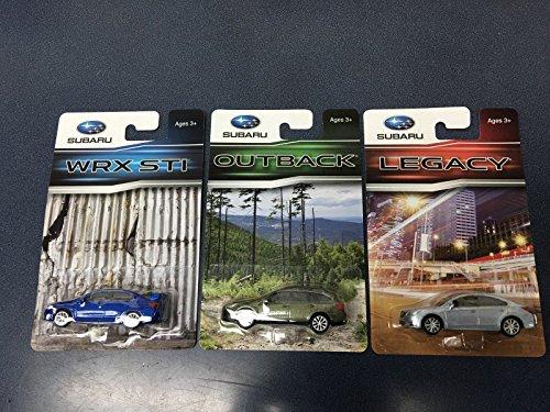 (Subaru Official Genuine 2015+ 1/64 Die Cast Toy Car Set WRX STi Outback Legacy 3)
