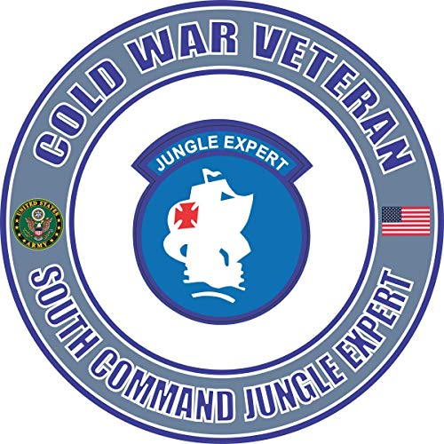 Military Vet Shop U.S. Army Cold War South Command Jungle Expert Veteran Window Bumper Sticker Decal 3.8