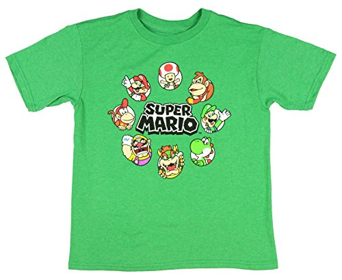 Nintendo Super Mario Circle Of Trust Boys' Character T-Shirt Licensed (Small) (Bowsers Kids)