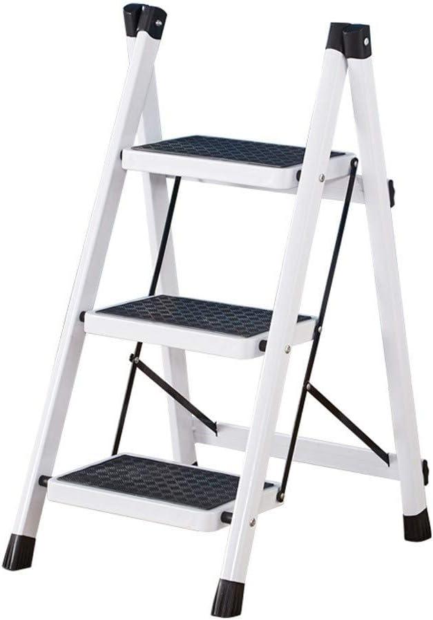 CML Home Escaleras de Interior casero Escalera Exterior Espesar de Acero Plegable de Goma Antideslizante de múltiples Funciones del hogar escaleras, Plata: Amazon.es: Hogar