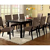Furniture of America Roque Rectangular Dining Table with Removable Leaf, Espresso Review