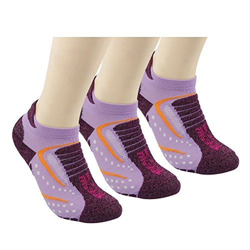 Facool Women's Ultra-Light Novelty Cozy Running Low Cut Ankle Stretchy Socks for Jogging,Hiking,Training,Working Out,Cause Use 3 Pairs Purple (Womens Ultralight Trail Sock)