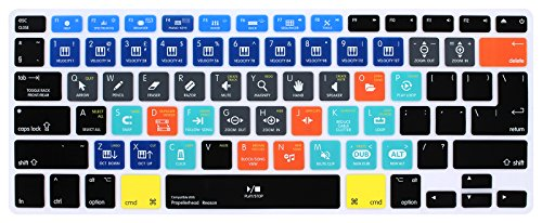 HRH Propellerhead Reason Shortcuts Hotkey Silicone Keyboard Cover Skin for MacBook Air 13,MacBook Pro13/15/17 (with or w/Out Retina Display, 2015 or Older Version)&Older iMac,USA and European Layout