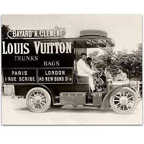 - Louis Vuitton Delivery Truck Art Print - 11x14 Unframed Art Print - Great Home Decor Under $15