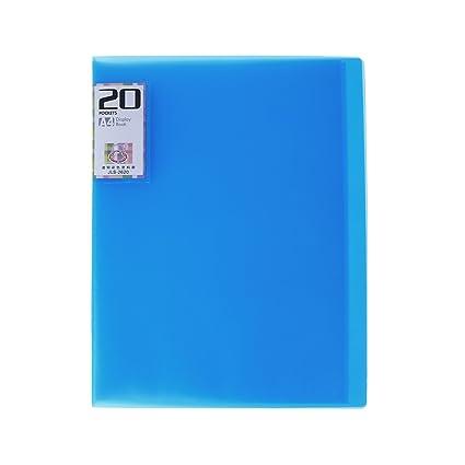 Amazon. Com: 20-pockets paper file display book protector.