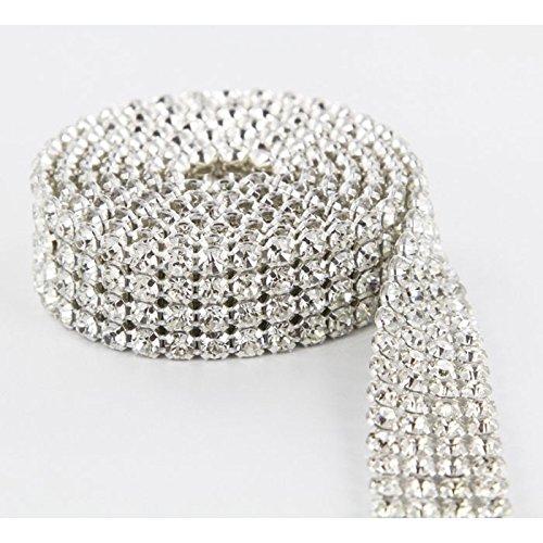 (Crystal Cake Ribbons Real Rhinestones Bling Diamond Cake Ribbon Banding (4 Row 1 Yard) )