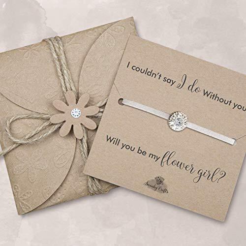 Will you be my flower girl bracelet, Asking flower girl gifts, flower girl proposal gifts, Ivory