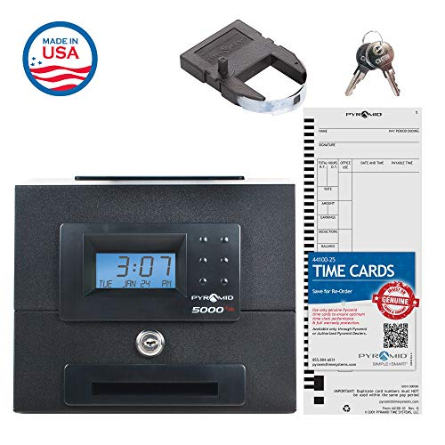 Pyramid 5000HD Heavy Duty Steel Auto Totaling Time Clock - Made in the USA by Pyramid Time Systems (Image #6)