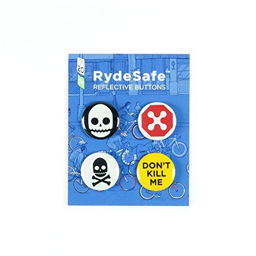 RydeSafe Reflective Buttons - Gnarly - 4 Pack by RydeSafe