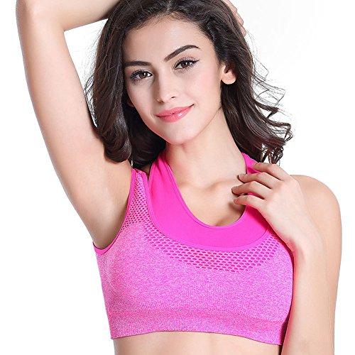 Champion Sports Running Bra - Benice Double Layer No-Bounce Women Sports Bra High Impact Racerback Yoga Sports Bra