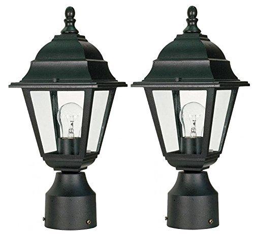 Nuvo Lighting 2 Pack 60/548 One Light Post Lantern (Black, 2-Pack) [並行輸入品] B07R5PTHJR