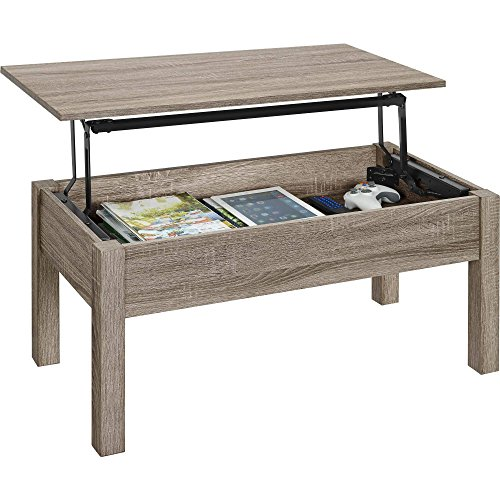 Amazon.com: Gracelove Wood Lift-Top Coffee Table Computer