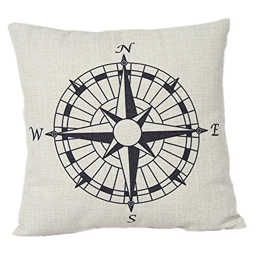 Decorbox Nautical Compass Cotton Pillow product image