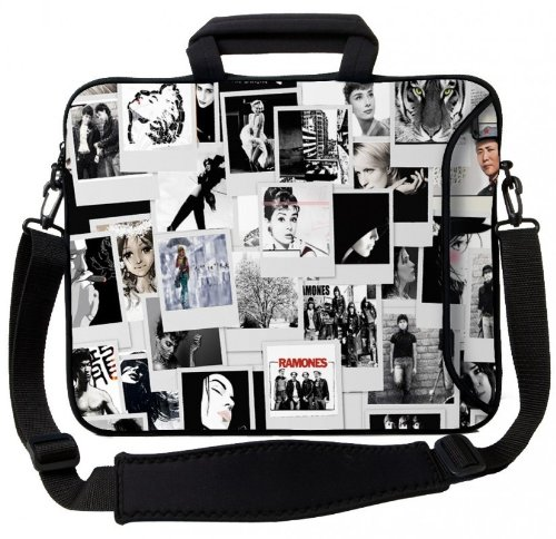 Price comparison product image MySleeveDesign Notebook Carry Bag Laptop Neoprene Case with Shoulder Strap 17 - 17.3 Inch - SEVERAL DESIGNS - Photos
