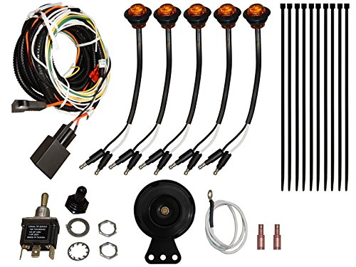 SuperATV Turn Signal Kit With Turn Signal Toggle Switch and Dash Horn for Kawasaki Mule Pro FXT 4 (2016+) - Plug and Play For Easy Installation!