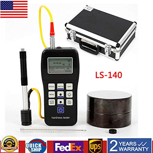 Portable Leeb Hardness Tester Gauge, LCD Digital Rebound Hardness Measuring Meter, LS140 Durometer Testing Scale for Metal Steel Measure from MONIPA