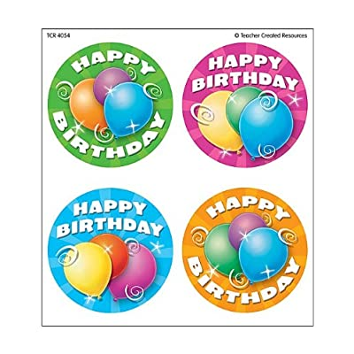 Teacher Created Resources Birthday Wear'Em Badges (4054): Office Products