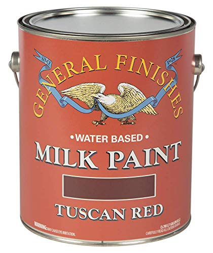 (General Finishes Water Based Milk Paint, 1 Gallon, Tuscan Red)