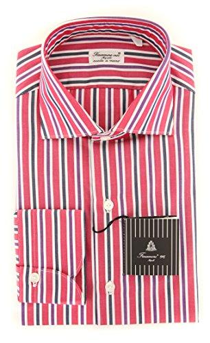 Finamore New Napoli Red Striped Extra Slim Shirt (Shirt Red Napoli)