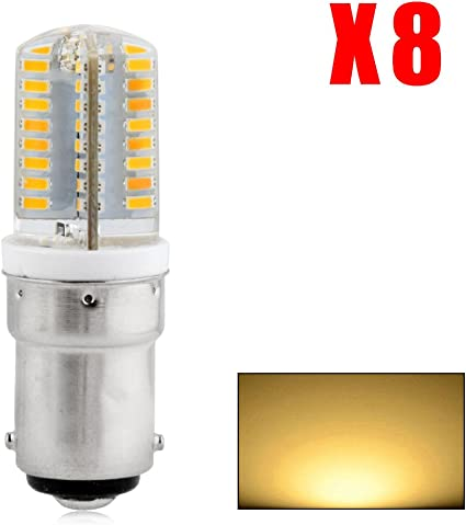 AC 110V//220V 8X B15 3014 SMD 64 LEDs Warm White Lamp Spot Light Studios Cabinet Bulb 6W