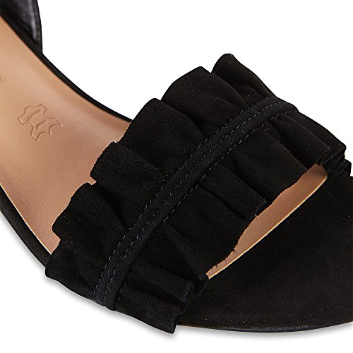 Marks & Spencer , Damen Sandalen schwarze Velourslederoptik