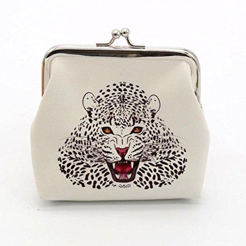 Petit portefeuille cuir Moraillon Blanc Vintage main Pochette à Sac Femmes Lady tqwHT4