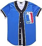 #9: Pizoff Unisex Short Sleeve 3D Print Baseball Softball Team Jersey Shirt