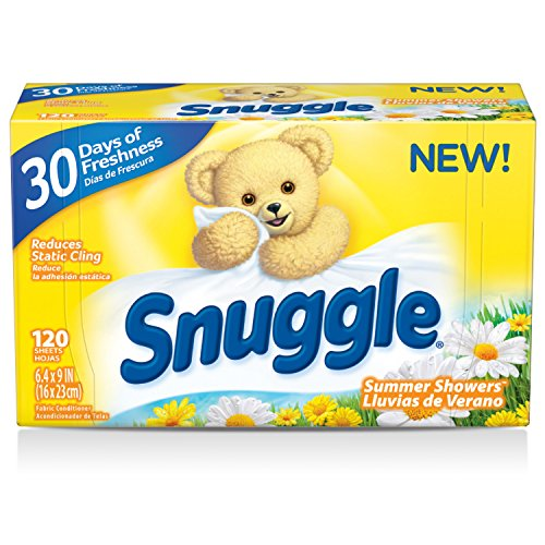 Amazon.com: Snuggle Fabric Softener Dryer Sheets, Summer Showers, 120 Count (Pack of 6): Health & Personal Care