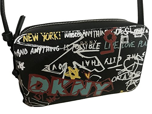 PRINT SAFFIANO LEATHER DKNY CROSSBODY BAG GRAFFITI xvwqE8qF5