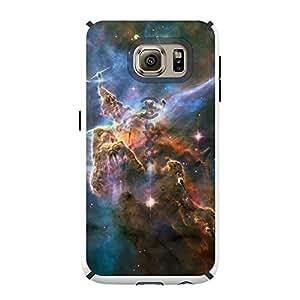 CUSTOM White Speck CandyShell Case for Samsung Galaxy S6 - Blue Pink Orange Carina Nebula