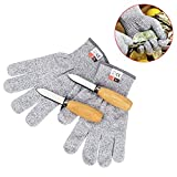 Oyster Shucking Knife & Level 5 Protection Cut Resistant Gloves (XL) Set