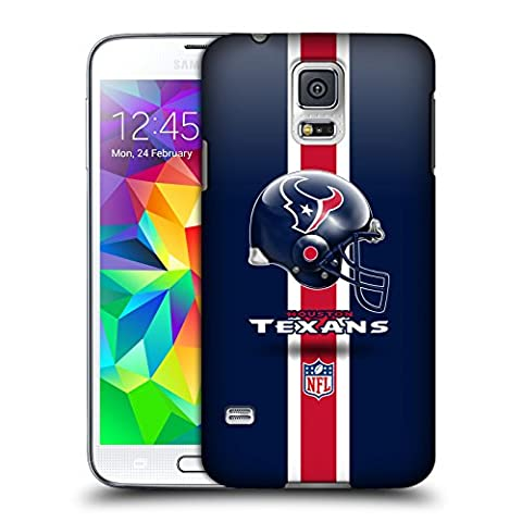 Official NFL Helmet Houston Texans Logo Hard Back Case for Samsung Galaxy S5 / S5 Neo (Houston Texans Samsung S5 Case)