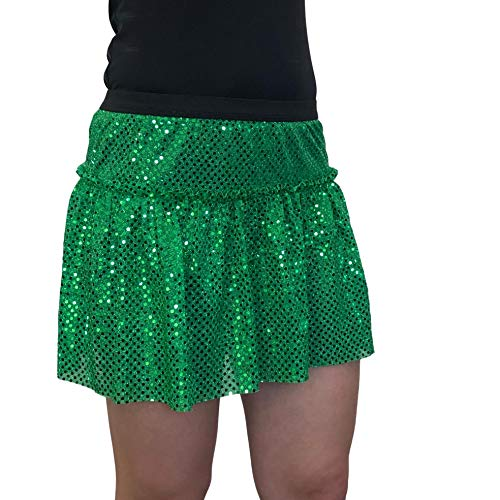 ROCK City Skirts Sparkle Running Skirt (X-Large, Kelly)]()