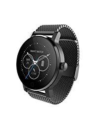 SMA09 Fitness Tracker Smart Watch Activity Tracker Heart Rate Monitor Smartwatch for iPhone X 8 7plus 7s 6plus 6s 6 for Android and iOS Smart Watches for Men