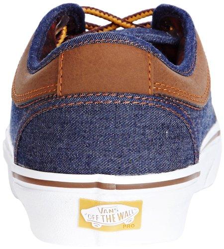 Vans Mens Chukka Low Skateboard Shoes (leather) Denim / Brown (leather) Denim / Brown