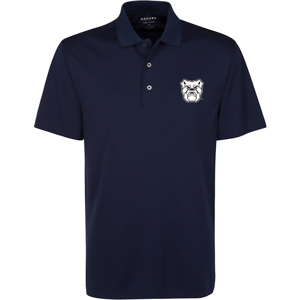 Oxford NCAA Butler Bulldogs Men's Burke Short Sleeve Solid Polo Small Classic Navy