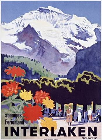 interlaken travel poster