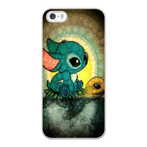 Coque,Coque iphone 5 5S SE Case Coque, Lilo And Stitch Turtle Cover For Coque iphone 5 5S SE Cell Phone Case Cover blanc