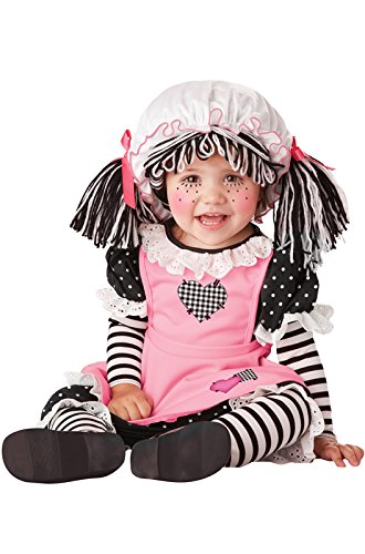 Costumes Halloween Doll (California Costumes Women's Baby Doll Infant, Black/Pink/White,)