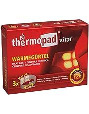 Thermopad vital warmtegordel   met 4 grote warmtecellen   weldadige dieptewarmte   direct klaar voor gebruik   12 uur lang 42 °C   eenvoudig in gebruik   maat S-XL   3-pack