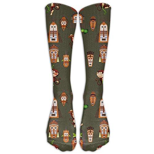 Have Fun Monkey Animal Kawaii Knee Socks Sports Teen Knee-high Long Tube Socks by Jiushiwazi
