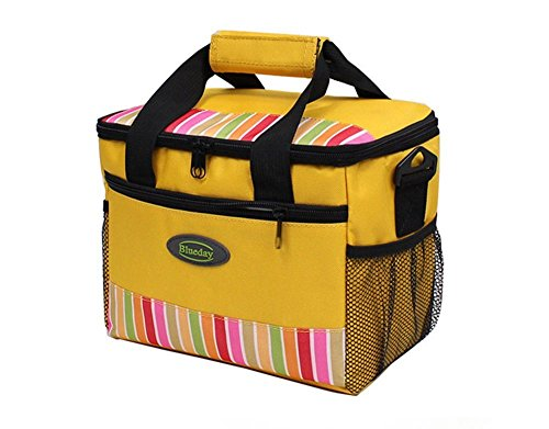 Grandey 7L Lunch Bags Cooler Bag Insulated For Women Kids Thermal Bag Lunch Box Food Picnic Bag Long Lasting Keep Warm or Hold Cool (yellow)