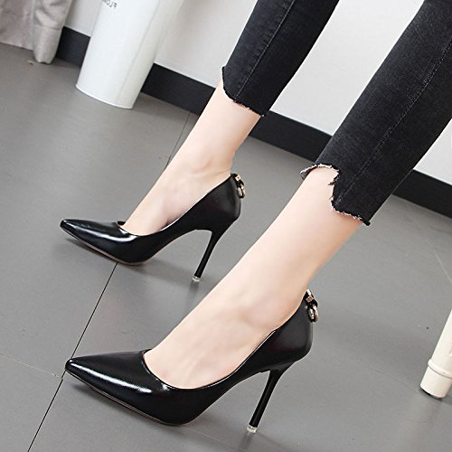 Xue Qiqi Frauen Schuhe Schuhe Schuhe Tipp feine mit dem Licht der high-heel Schuhe rot Hochzeit Schuhe einzelne Schuhe Frauen c1cd21