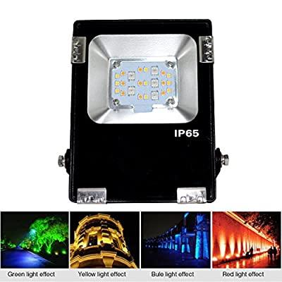 Waterproof IP65 RGB+CCT LED Floodlights Spotlight AC86-265V Outdoor Lighting For Outdoor Hotel Garden