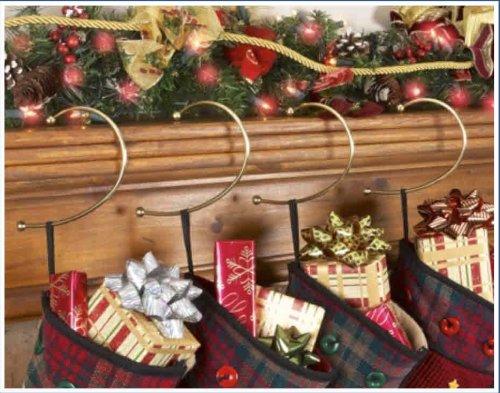 - Jumbl BRASS GRAVITY DEFYING CHRISTMAS STOCKING HOOK HANGERS - SET OF 4