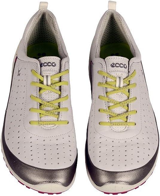 ECCO Biom Lite 1.1 Schuhe weiß Silber Yak Leder Damen